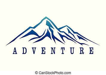 dsign, logotipo, aventura, montanha