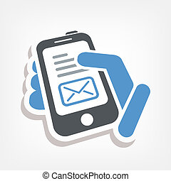 e-mail, smartphone, ícone