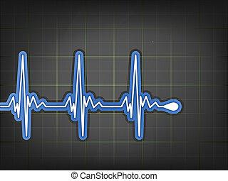 ecg, monitor., eps, electrocardiograma, 8
