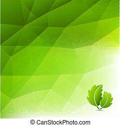 eco, abstratos, experiência verde