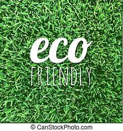 eco, cartaz, amigável