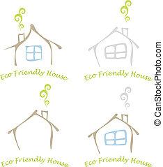 eco, casa, amigável
