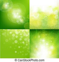 eco, fundo, jogo, verde, borrão