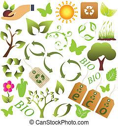 eco, símbolos, meio ambiente