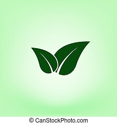 eco, verde, amigável, sinal