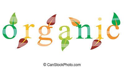 ecologia, orgânica, ícone