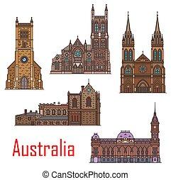 edifícios, austrália, arquitetura, marcos, cidade