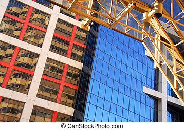 edifícios, modernos, escritório