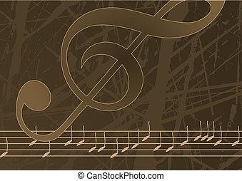 editable, vetorial, música, fundo