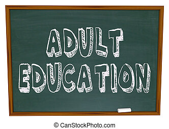 educação, -, adulto, chalkboard