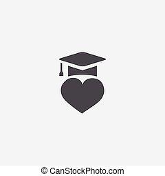 educação, amor, ícone