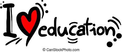 educação, amor