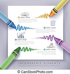 educação, creiom, negócio, infographics