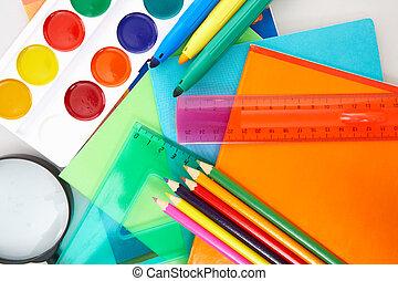 educação, objetos