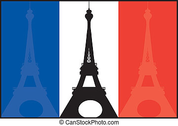 eiffel, bandeira francesa