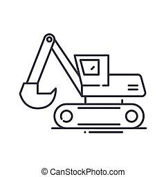eixo helicoidal, vetorial, conceito, desenho, linha, branca, símbolo, esboço, editable, teia, conduzir, ícone, isolado, apoplexia, ilustração, experiência., sinal, linear, escavador, magra