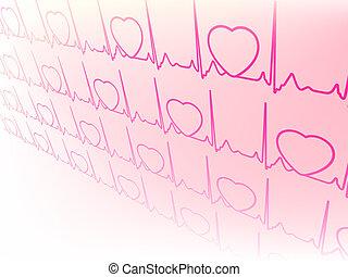 ekg, eps, waveform, electrocardiograma, 8, test.