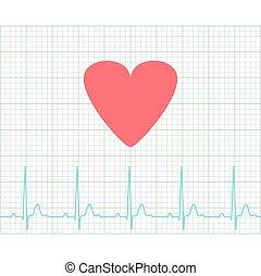 ekg, médico, -, electrocardiograma