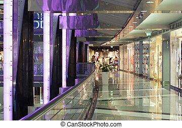 elegante, centro comercial, shopping
