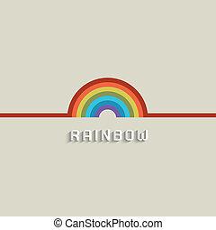 elegante, desenho, arco íris