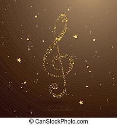 elegante, vetorial, clef