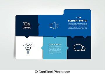element., tabela, caixa, chart., programa, infographics