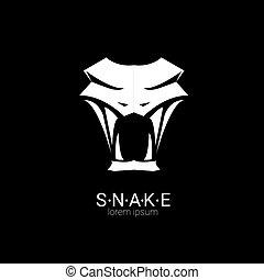element., vetorial, cobra, desenho, logotipo, simples
