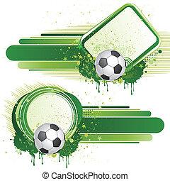 elementos, futebol, desenho