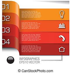 elementos, jogo, vetorial, infographics