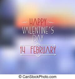elementos, valentines, calligraphic, desenho, dia, cartão, feliz