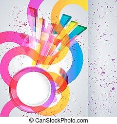 elements., fundo, desenho, abstratos