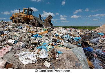 eliminação, desperdício, local