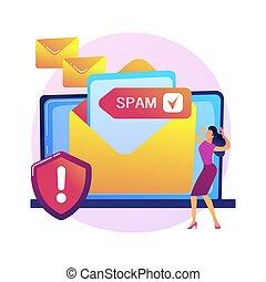 email, conceito, vetorial, serviço, metaphor.
