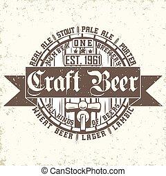 emblema, arte, cerveja