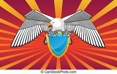 emblema, eagle.