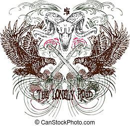 emblema, heraldic, desenho