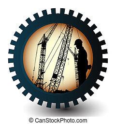 emblema, trabalhador