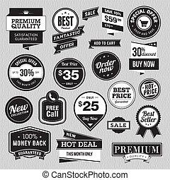 emblemas, adesivos, jogo, venda