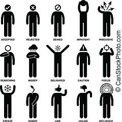 emoção, ação, sentimento, pessoas tripulam