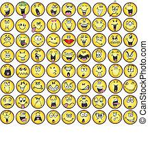 emoção, emoticons, vectors, ícone