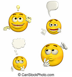 emoticon, 1of9, -, pacote