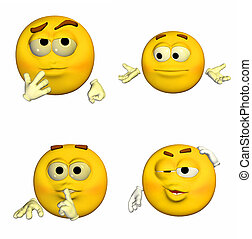 emoticon, 9of9, -, pacote