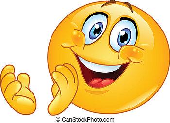 emoticon, clapping