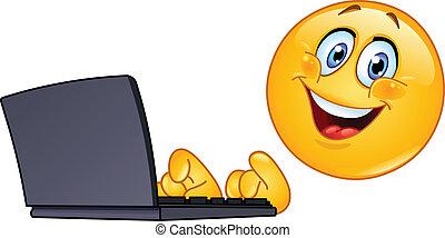 emoticon, computador