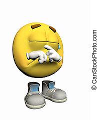 emoticon, crying., sujeito