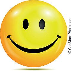 emoticon, smiley, feliz