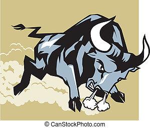 encarregando, touro