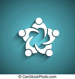 encontrar pessoas, circle., negócio
