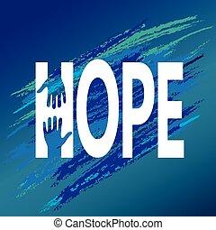 encouragement., apoio, mão, vetorial, moral, esperança
