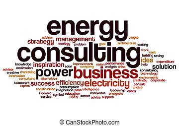 energia, palavra, consultar, nuvem